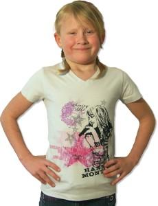 """Hannah Montana T-Shirt """"Spotlight & Sparkle"""", hellgrau - verschiedene Größen"""