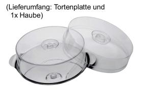 APS Tortenplatte mit Haube, Edelstahl, 30 cm