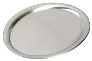 ASSHEUER + POTT Tablett, oval, 26,5x19cm, Edelstahl