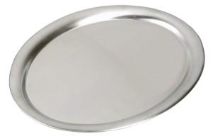 ASSHEUER + POTT Tablett, oval , 29x22cm, Edelstahl
