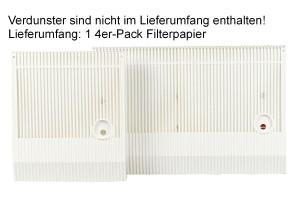 Filterpapier 4er für BENTA Flachverdunster