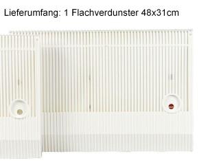 BENTA Flachverdunster 48x31cm weiß