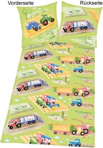 Kinder Bettwäsche Traktoren, 135x200cm