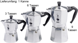 Bialetti Espressokanne Moka Express Restyle - verschiedene Größen