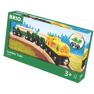 Brio Holz-Transportzug mit zwei Wagen