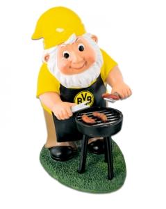 Borussia Dortmund Gartenzwerg mit Grill