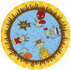Die Olchis Pappteller 23 cm, 8 Stück