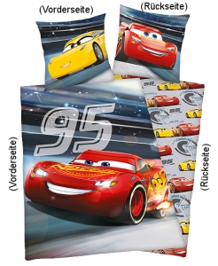 Disney's Cars Bettwäsche leuchtet 135x200cm