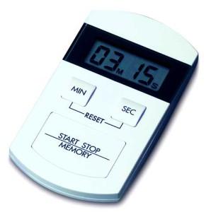 Elektronischer Timer und Stoppuhr, weiß/schwarz