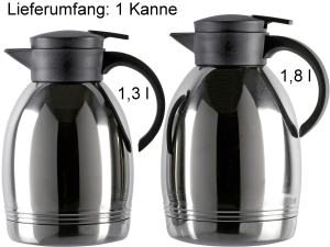 Emsa Isokanne Konsul Edelstahl schwarz - verschiedene Größen