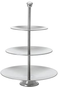 Etagere Edelstahl 3 Ebenen, 36cm