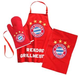 """FC Bayern München Grillset """"Rekord Grillmeister"""""""