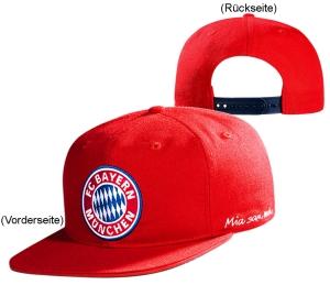 FC Bayern München Kinder Snapback Cap Logo