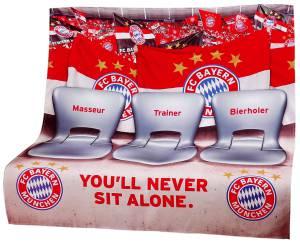 FC Bayern München Sofaüberwurf Stadion