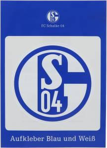 FC Schalke 04 Aufkleber blau und weiß 8cm