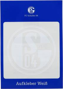 FC Schalke 04 Aufkleber weiß 8cm