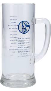 FC Schalke 04 Bierglas Blau & Weiß 0,5 Liter