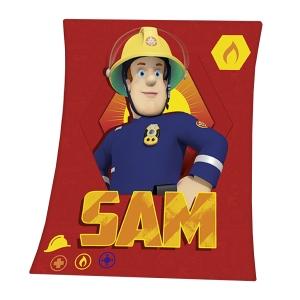 Feuerwehrmann Sam Fleece-Decke 130x160 cm