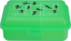 Fizzii Brotdose Uno mit Trennfach Fußball, grün