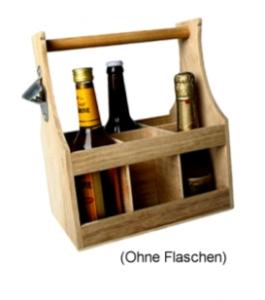 Flaschenträger mit Öffner für 6 Flaschen