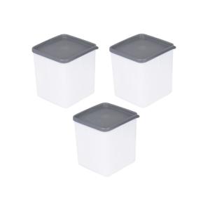 my basics Gefrierdose, 3 Stück, 1,25l, quadratisch