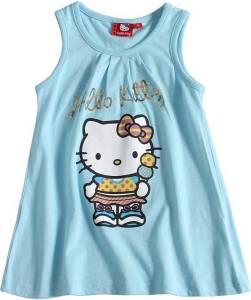 Hello Kitty Top, hellblau - verschiedene Größen