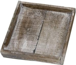 Holztablett, 20x20x4cm