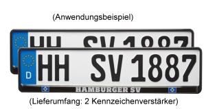 """HSV Kennzeichenhalter """"exklusiv"""", 520x110mm, 2er"""