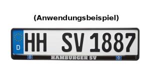 """HSV Kennzeichenhalter """"exklusiv"""", 520 x 110 mm"""