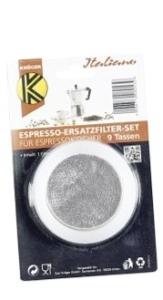 Krüger 1 Filter und 3 Ringe Espressokocher