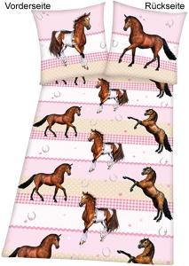Kinder Bettwäsche Pferd, 135x200cm
