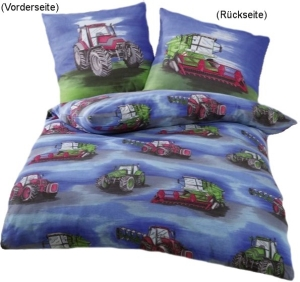 "Biber Bettwäsche ""Traktor"", 135x200cm"