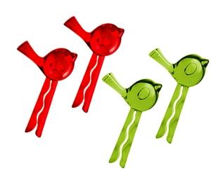 Koziol Verschlussclips grün/rot 4er Set