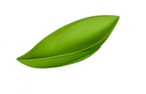 Magu Blattschale Natur grün 30x15cm