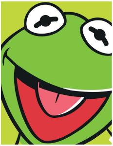 """Die Muppets Polar-Fleecedecke """"Kermit"""", grün"""
