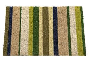 my choice Fußmatte Streifen, grün/braun/creme, 40x60cm