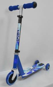 New Sports 2-in-1 Scooter Blue Motion