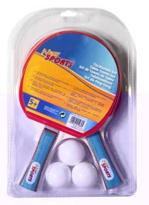 New Sports Tischtennis-Set, 2 Schläger und 3 Bälle