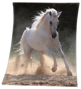 Pferde Fleecedecke Schimmel 130x160cm