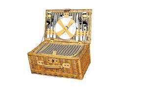 Picknickkorb für 2 Personen, 40x27x19cm