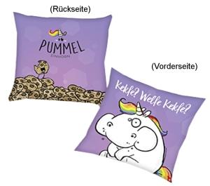 """Pummeleinhorn Kissen """"Kekfe?"""" 40x40cm"""