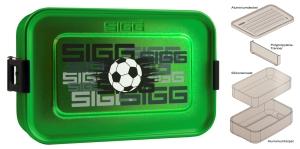 SIGG Brotdose Plus S Aluminium Fußball grün