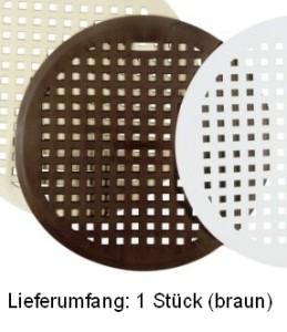 my basics Spülbeckenmatte rund braun 32cm