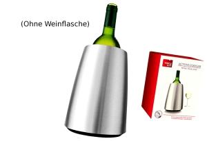 """Vacu Vin Weinkühler """"Elegant"""" Edelstahl"""