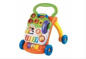 Baby Spiel- und Laufwagen mit integrierter Spielkonsole, grün