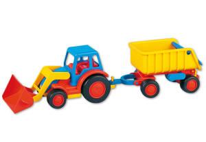 WADER BASICS Traktor mit Schaufel und Hänger