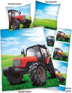 Traktor Bettwäsche, 135x200, Linon