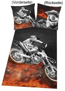 "Bettwäsche ""Motorcross"" 135x200cm, Microfaser"